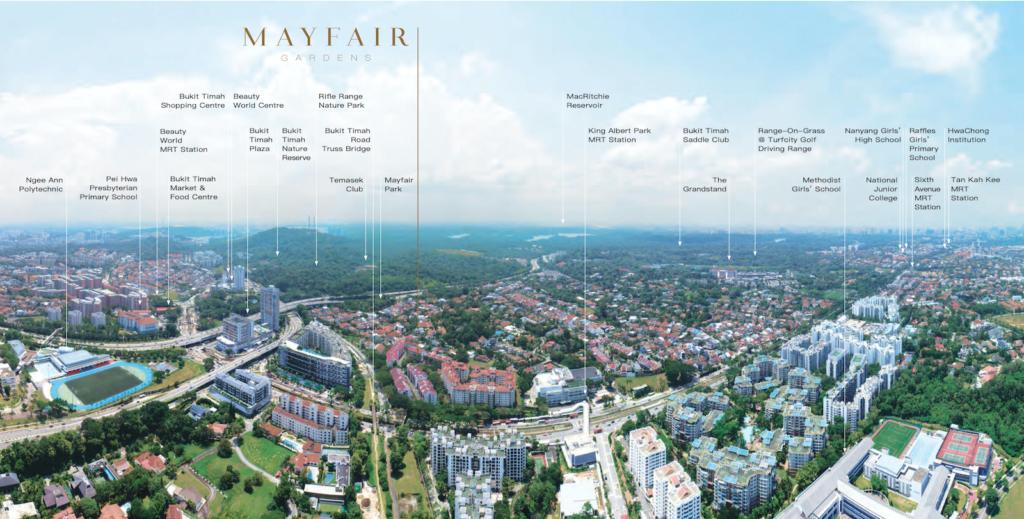 Mayfair Gardens Location Map 2 Singapore