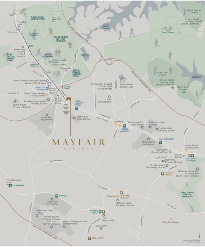 Mayfair Gardens Location Map 1 Singapore